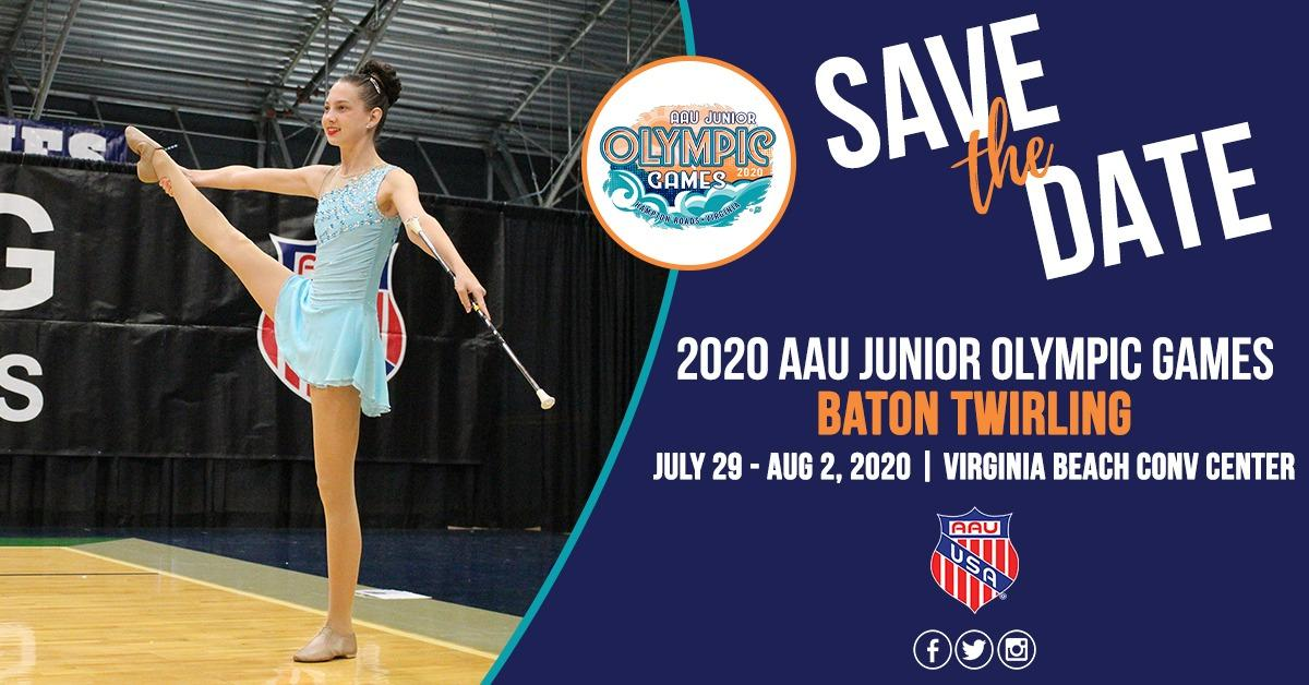 Baton Twirling 2020 AAU Junior Olympic Games