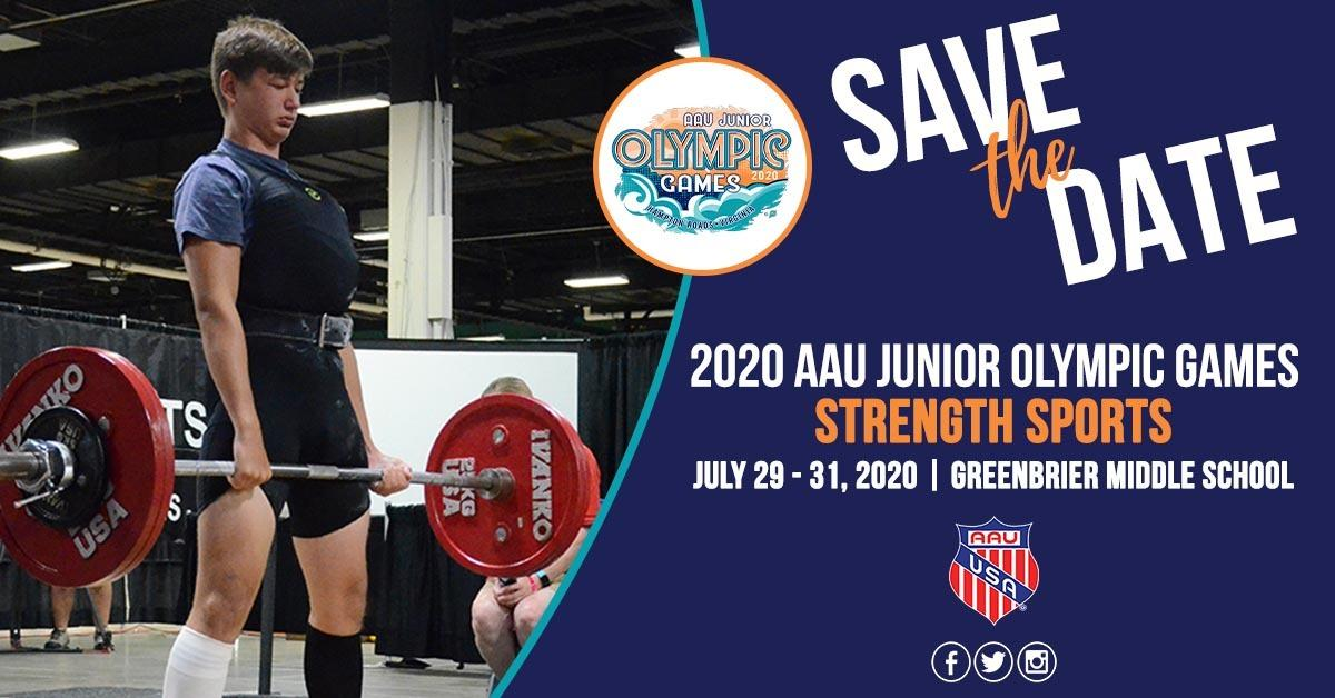 Strength Sports 2020 AAU Junior Olympic Games
