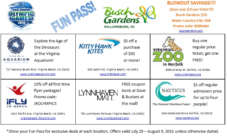 New This Year, The Fun Pass Will Offer Special Discounts At Many Of The  Wonderful Attractions Throughout Hampton Roads. See Below For The Fun Pass  And Learn ...