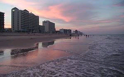 Sunset over Virginia Beach's Oceanfront
