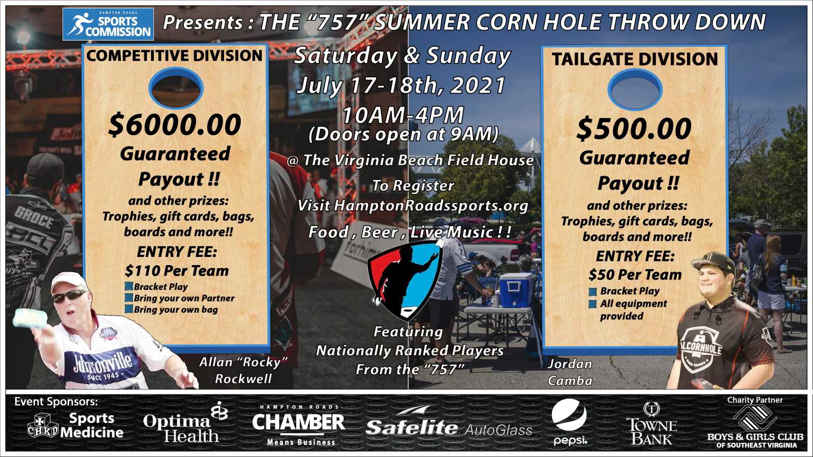 757 Summer Corn Hole Throw Down Set for July 17-18