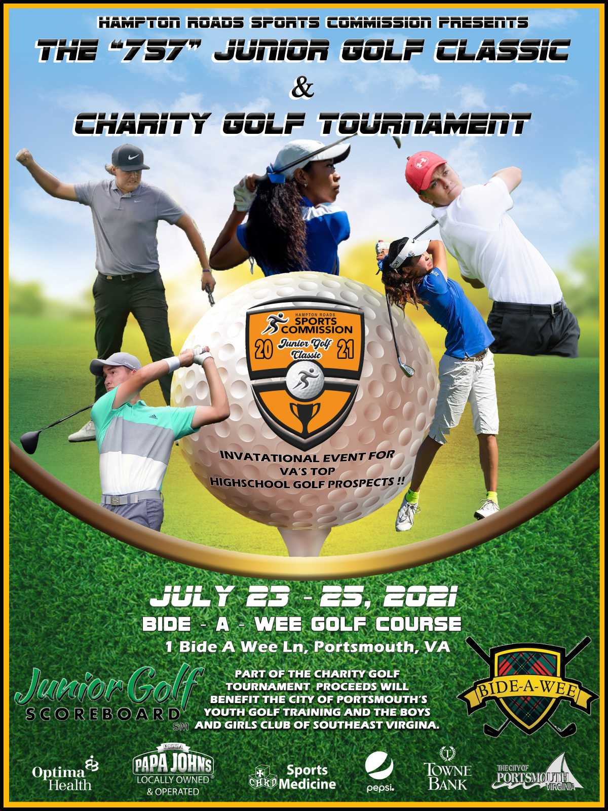 HRSC, Bide-A-Wee Golf Course to Host 757 Junior Golf Classic and Charity Tournament