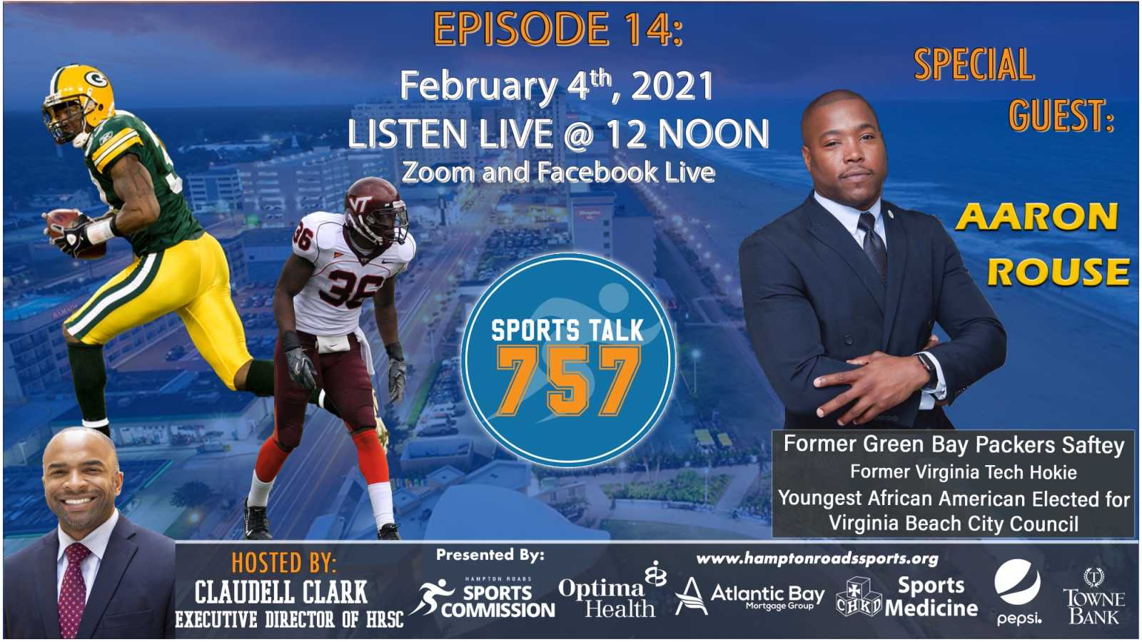 Va. Beach Councilman, Former NFL and Va. Tech Standout Aaron Rouse Joins SportsTalk 757
