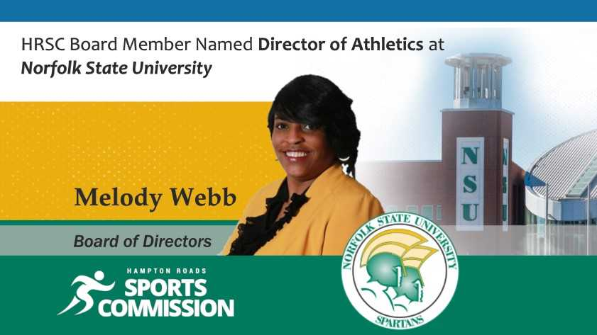 HRSC Board Member Melody Webb named Director of Athletics at Norfolk State University