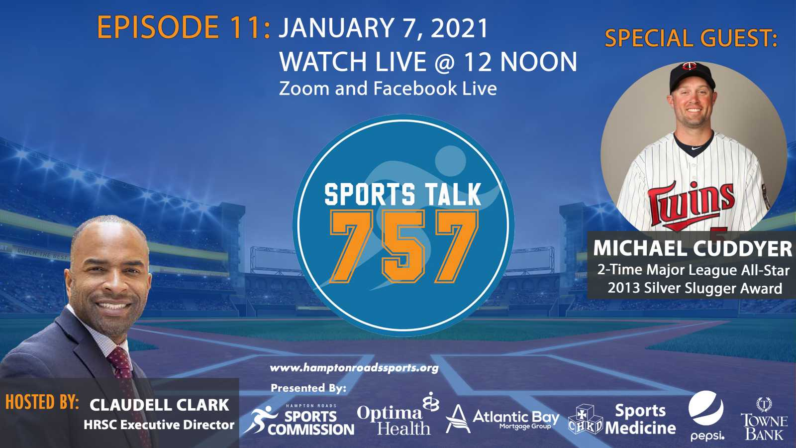 January SportsTalk 757 Shows Kick off with Former MLB All-Star Michael Cuddyer