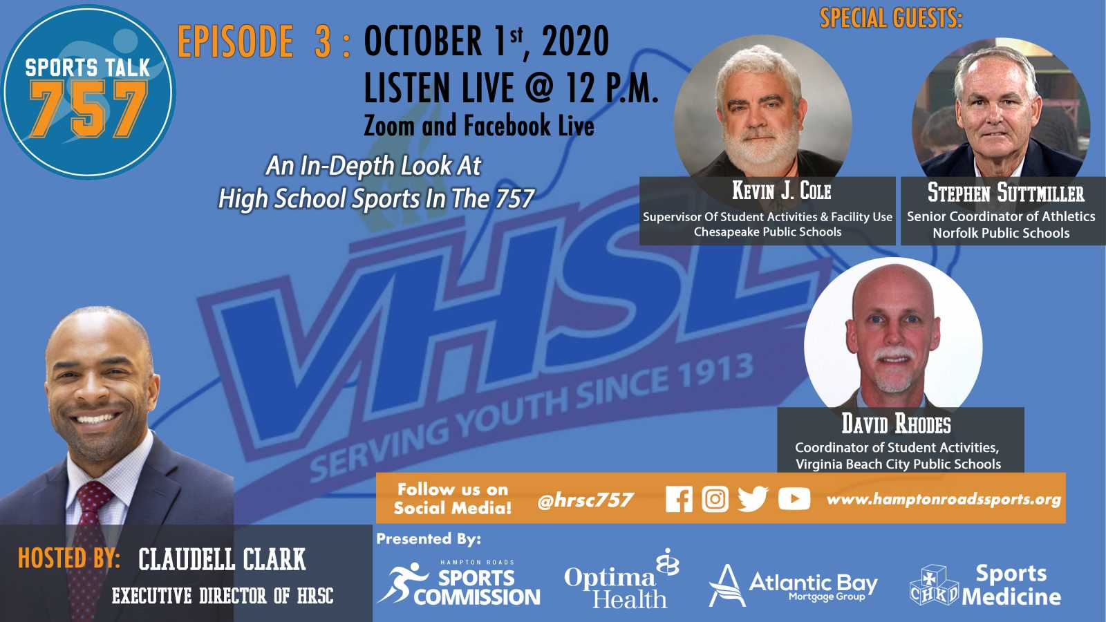 SportsTalk 757 Episode 03: October 1, 2020 Featuring Area High School Administrators