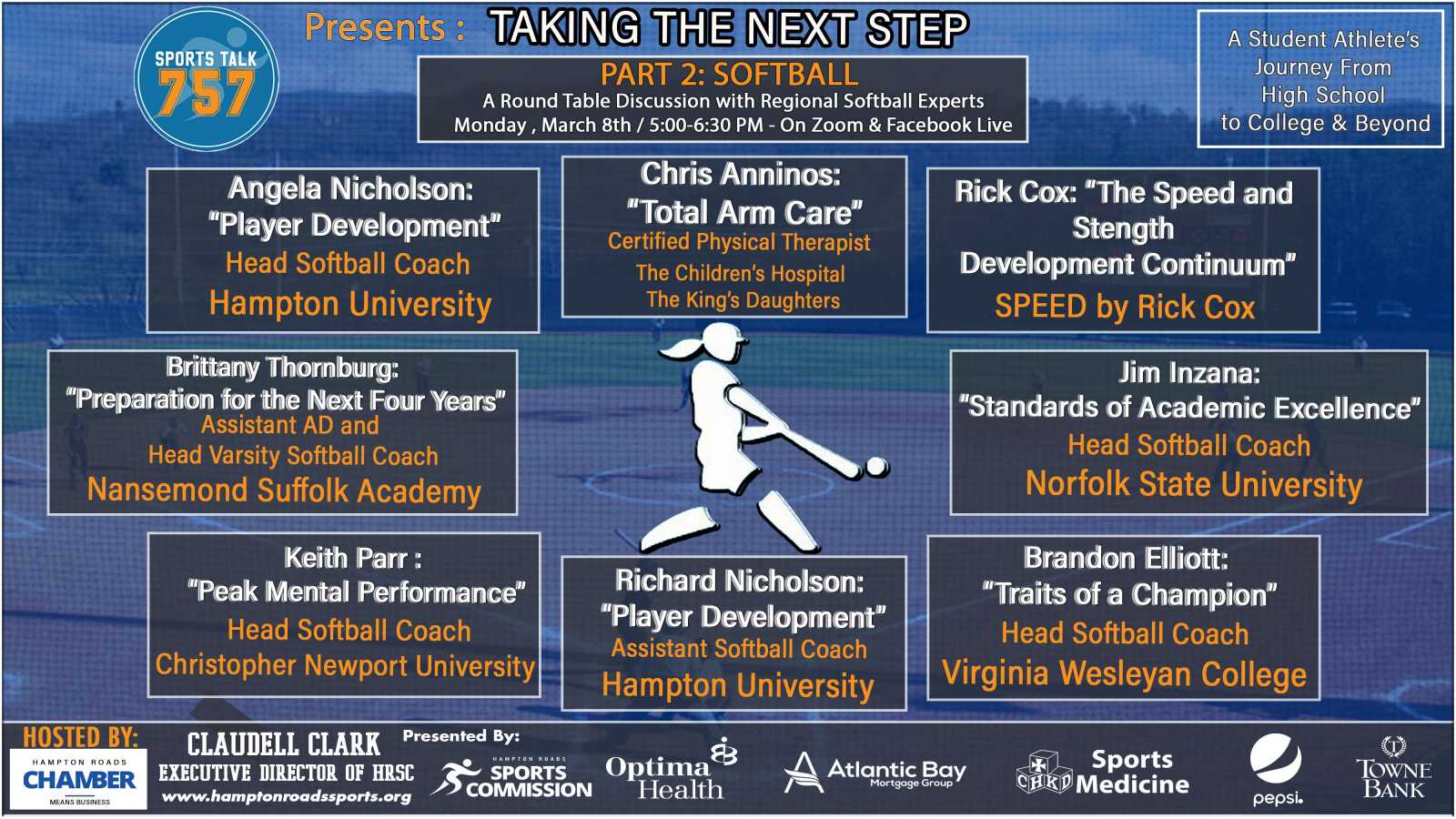 """Taking the Next Step"" Softball Panel Discussion is March 8"